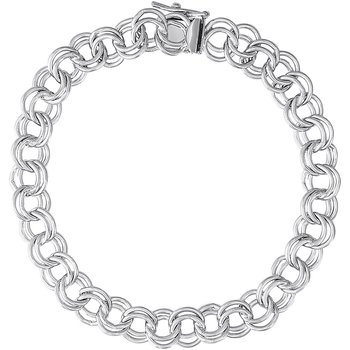 "Sterling Silver Charm Bracelet 7"""