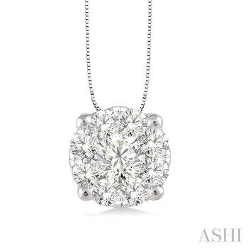 "14KW ""Lovebright"" Diamond Pendant w/ 0.35 ctw and 18"" Chain"