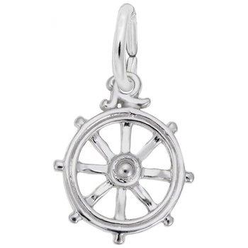Sterling Silver Ships Wheel Charm