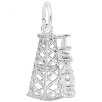 Sterling Silver Texas Oil Rig Charm
