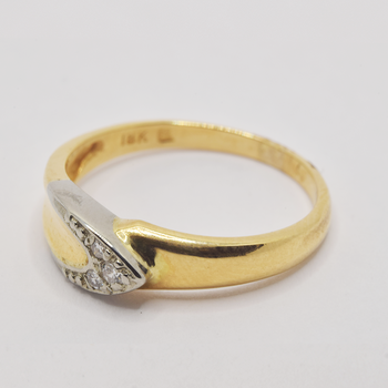 18KT Yellow and White Gold Diamond Ring