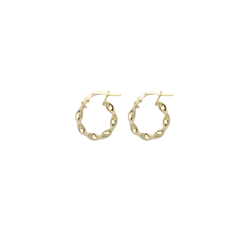 10KT Yellow Gold Small Twisted Hoop Earrings