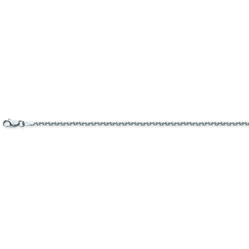 """20"""" Sterling Silver/Rhodium Plated Cable Chain"""