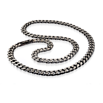 "24"" Black Stainless Steel Curb Chain"