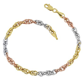 10kt Tri Coloured Bracelet