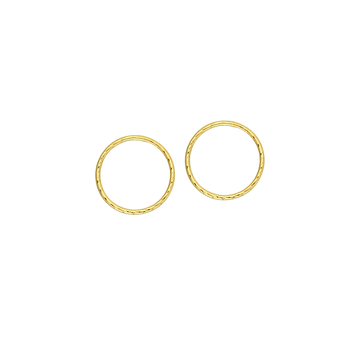 10KT Yellow Gold Circle Stud Earrings