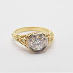 Estate 18KT Yellow and White Gold Antique Ring