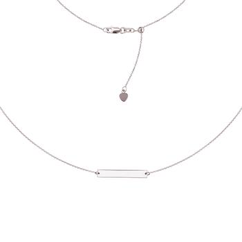 Sterling Silver Adjustable Bar Necklace