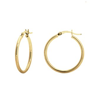 25mm 14kt Yellow Gold Hoops