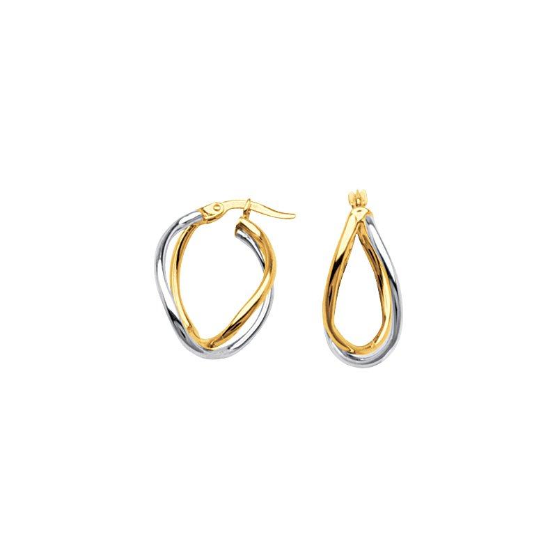 Best Sellers 10kt Two Tone Designer Hoop Earrings