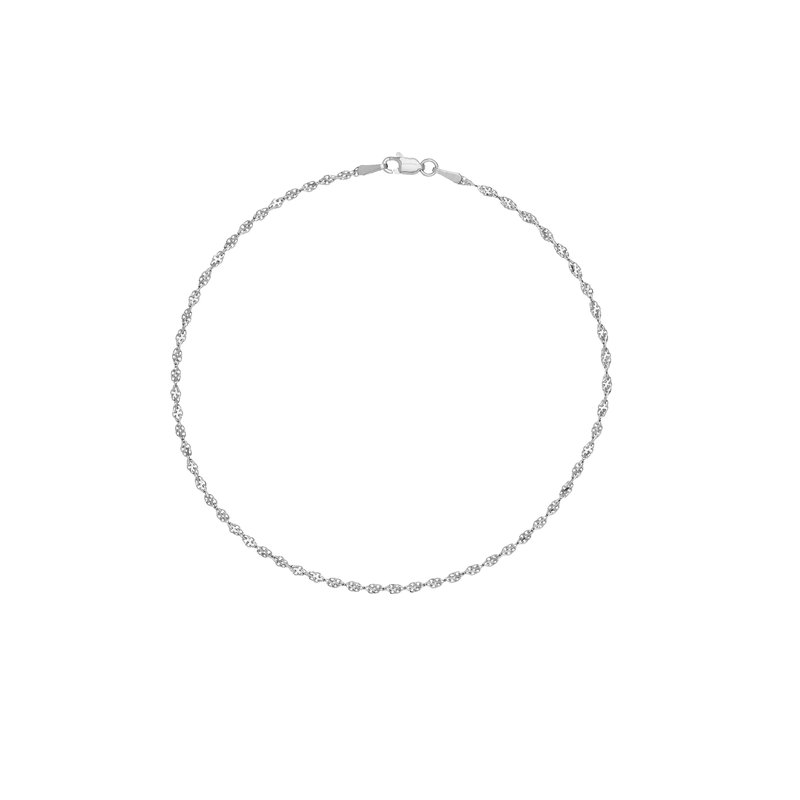 Best Sellers Sterling Silver Fancy Link Anklet