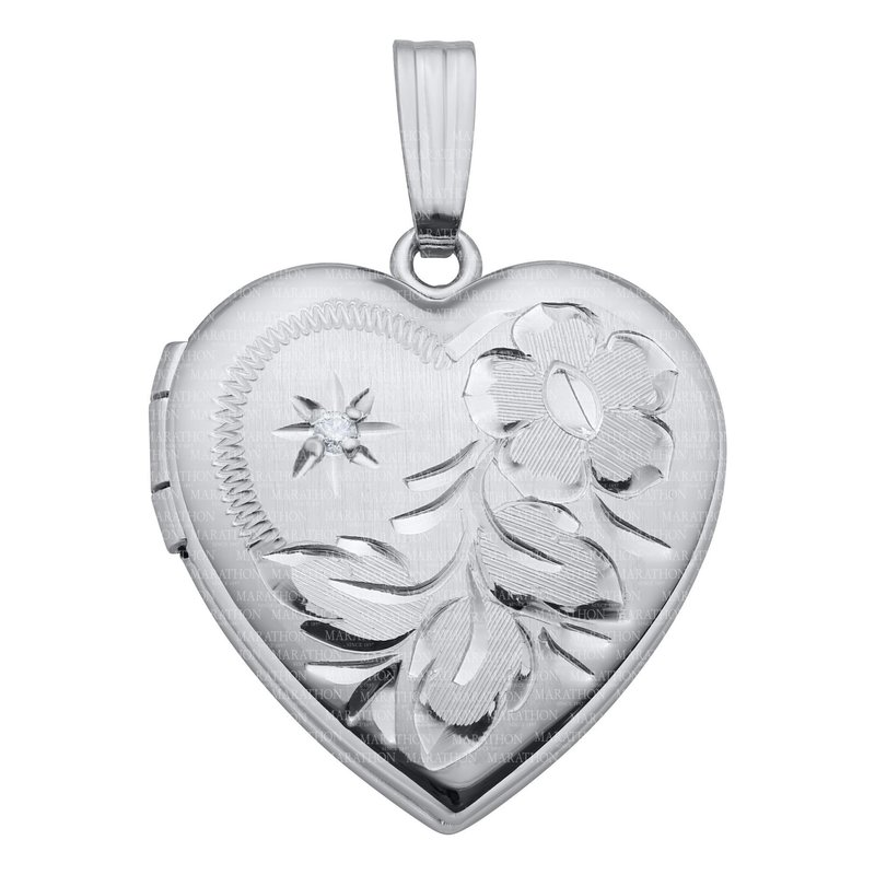 Best Sellers Sterling Silver Diamond Heart Locket