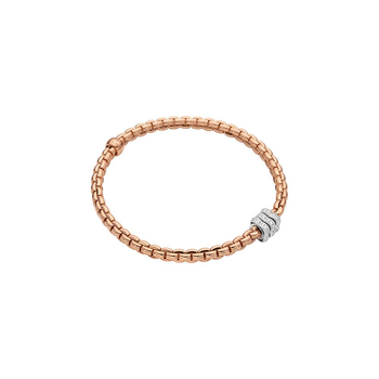 18k White / Rose Gold and Diamond Pave Flex'it Bracelet
