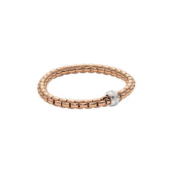 18k Rose / White Gold and Diamond Flex'it Bracelet