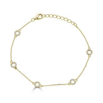 14KT White Gold 0.17tw Diamond Bracelet