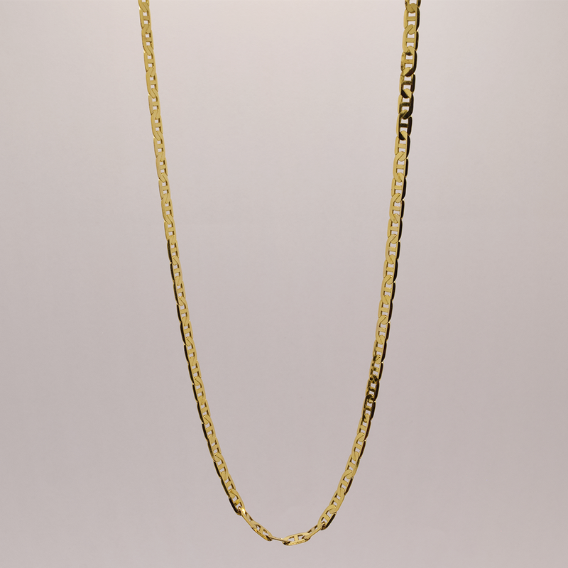 """Estate 18"""" 14KT Yellow Gold Anchor Link Chain"""