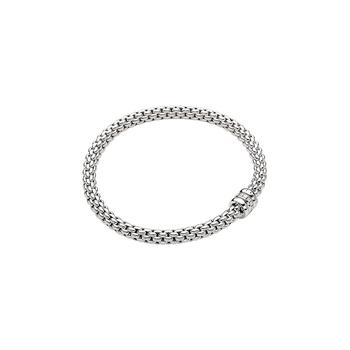 18k White Gold and Diamond Flex'it Bracelet