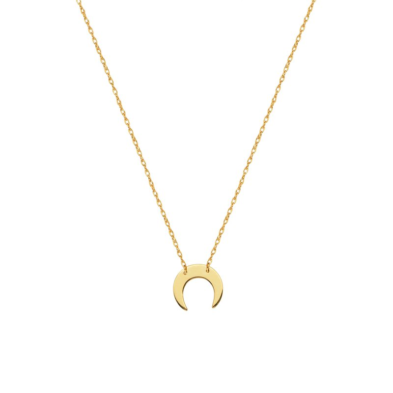 Best Sellers Lady's 14kt Yellow Gold Crescent Moon Necklace