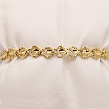"10KT 7"" Yellow Gold Heart Bracelet"