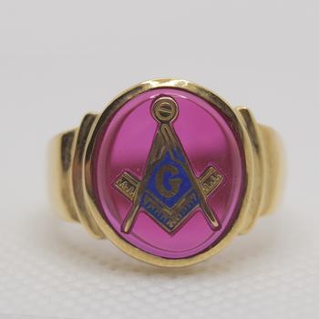 10KT Yellow Gold Masonic Ring