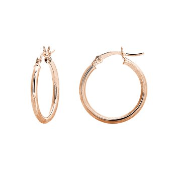20mm 14kt Rose Gold Hoops