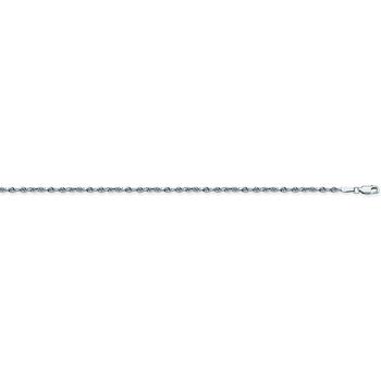 "10"" Sterling Silver Rope Anklet"