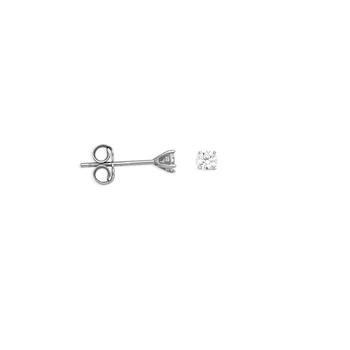 14KT White Gold 3mm CZ Stud Earrings