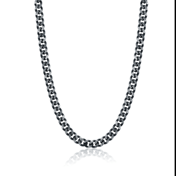 "23"" Black Stainless Steel Curb Chain"