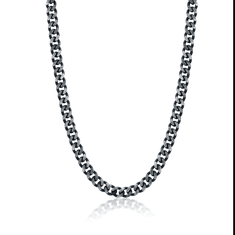 """Best Sellers 23"""" Black Stainless Steel Curb Chain"""