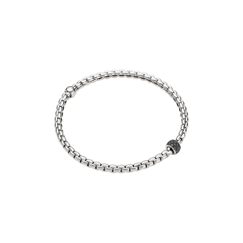 18k White Gold and Black Diamond Pave Flex'it Bracelet