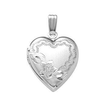 """Sterling Silver Heart Locket / Chain 18"""""""