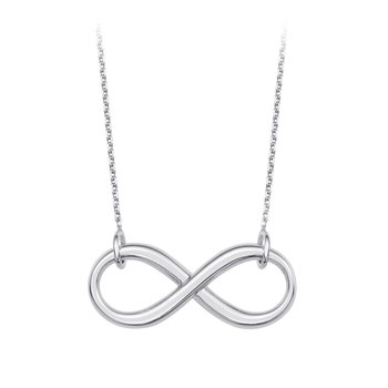 """Sterling Silver Infinity Necklace with 18"""" Chain"""