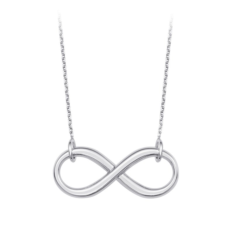 """Best Sellers Sterling Silver Infinity Necklace with 18"""" Chain"""