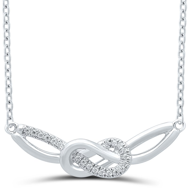 Best Sellers Lady's Infinity Sterling Silver Diamond Necklace