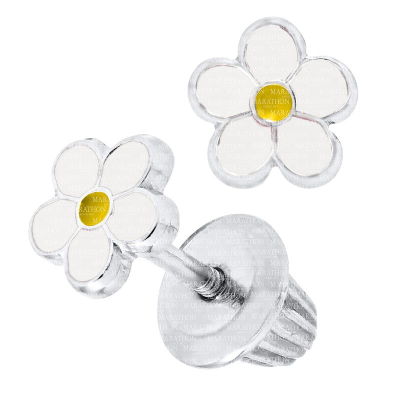 Best Sellers Children's Sterling Silver Enamel Daisy Stud Earrings