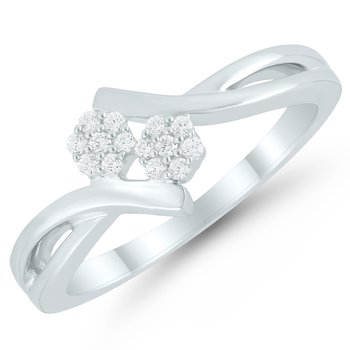 Lady's Sterling Silver Diamond Ring