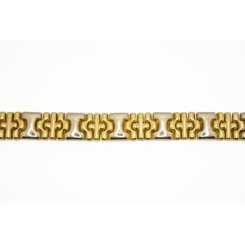 """18KT Tri-gold 8"""" Bracelet"""