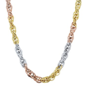 10kt Tri Coloured Chain