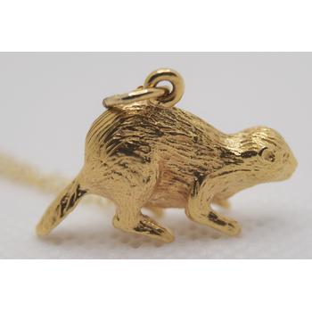 14KT yellow gold Beaver Charm