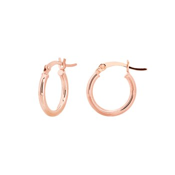 15mm 14kt Rose Gold Hoops