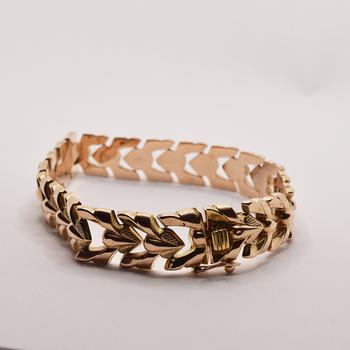 """14KT Rose Gold 8"""" Fancy Link Bracelet"""