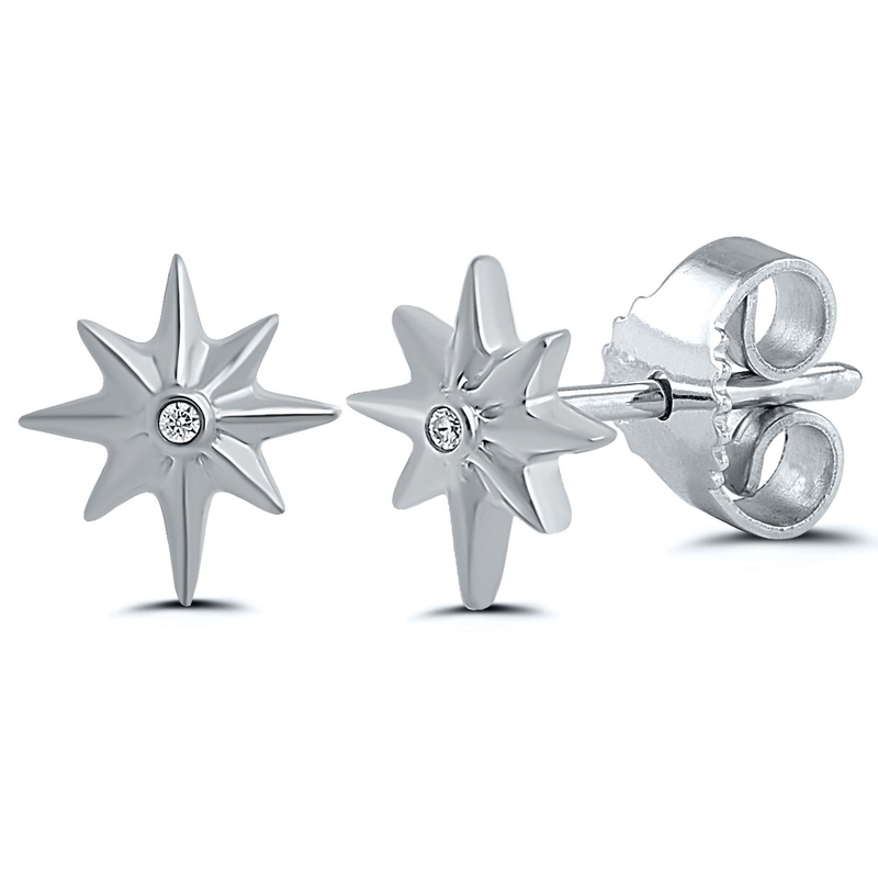 Best Sellers Sterling Silver Diamond Studs