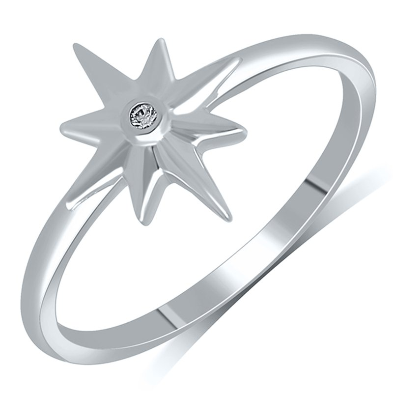 Best Sellers Lady's Star Sterling Silver Diamond Ring