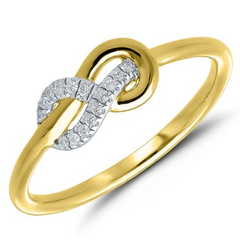 Lady's 10k Yellow Gold Diamond Infinity Ring