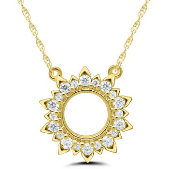 Lady's 10kt Yellow Gold Diamond Necklace
