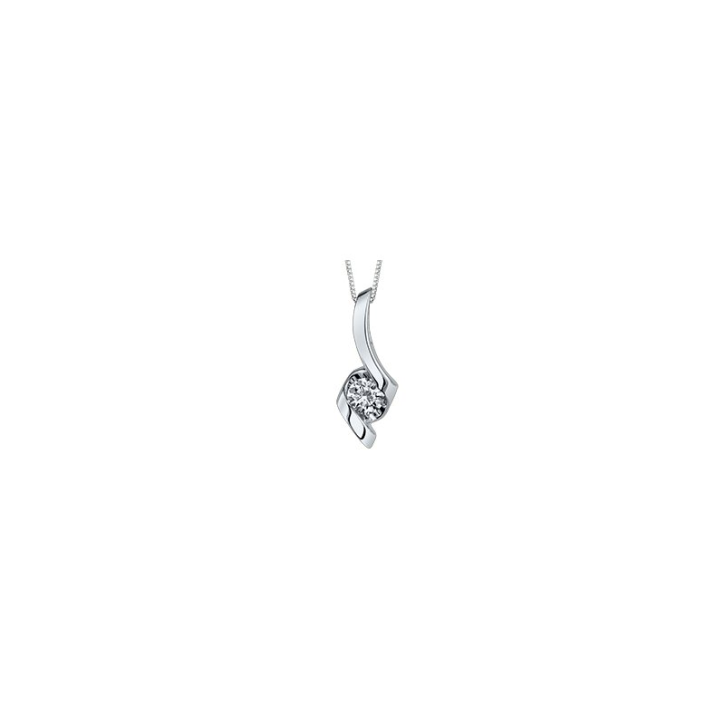 Best Sellers Lady's 10kt White Gold Solitaire Diamond Pendant