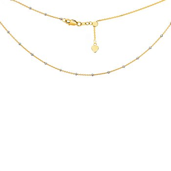 "Lady's 14kt Yellow & White Gold ""Saturn"" Adjustable Necklace"