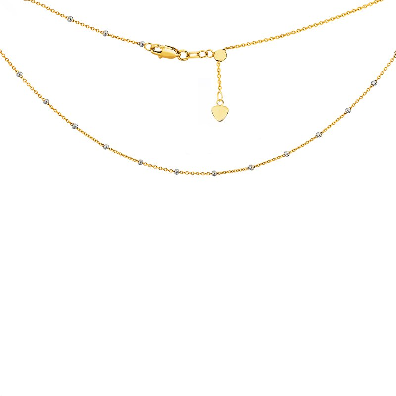 "Best Sellers Lady's 14kt Yellow & White Gold ""Saturn"" Adjustable Necklace"