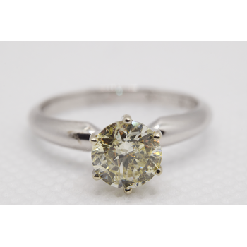 14KT White Gold 1.09ct Yehuda Enhanced Diamond Engagement Ring