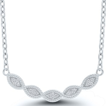Lady's Sterling Diamond Necklace